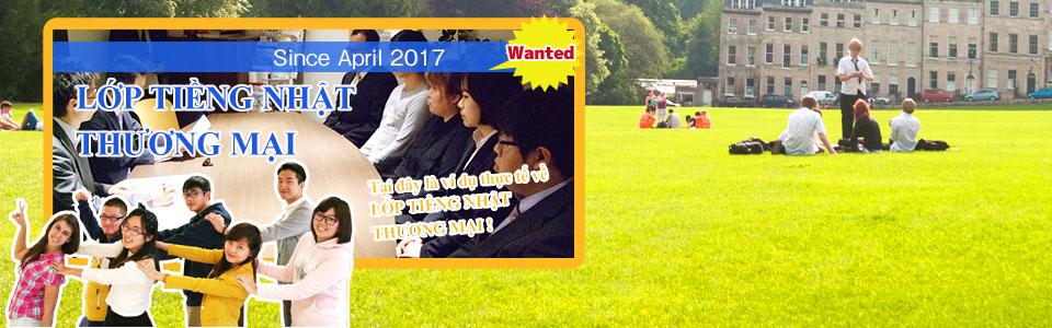 khóa học tiếng nhật thương mại April 2017 START